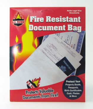 The MayDay Industries Emergency Gear Fire Resistant Document Bag