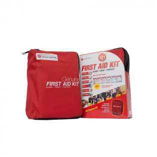 The Genuine First Aid®  First Aid Kit Model 101 Red - 101 pieces