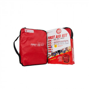 The Genuine First Aid®  First Aid Kit Model 303 Red - 303 pieces