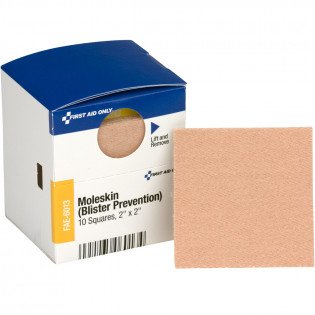 "The First Aid Only® 2"" x 2"" Moleskin Squares, 10 Each - SmartTab EzRefill"