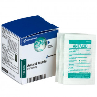 The First Aid Only® Antacid Tablets, 20 Tablets - SmartTab EzRefill