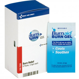 The First Aid Only® Burnaid Packets, 6 each - SmartTab EzRefill