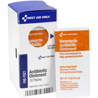 The First Aid Only® Neomycin Antibiotic Ointment, 10 Each - SmartTab EzRefill
