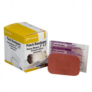 "The First Aid Only® 2""x3"" Patch Bandage, Heavy Woven - 25 Per Box"