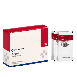 Box of 25 Burn Relief Packets.