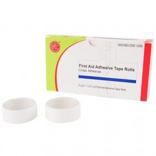 "The Genuine First Aid® 1/2"" x 2.5 yd. First Aid Adhesive Tape Roll - 2 Rolls Per Box"