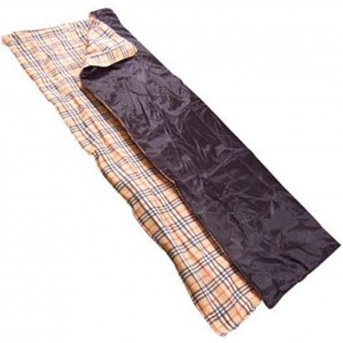 This sleeping bag folds up like a pillow. 100% polyester FDY.