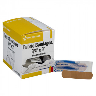 """The First Aid Only® Adhesive Bandage, Fabric 3/4"""" - 100 Per Box"""
