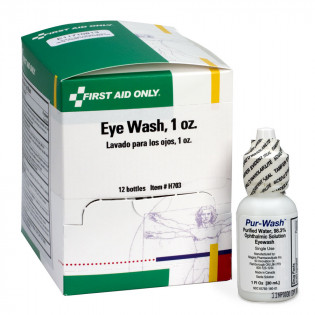 The First Aid Only® Eye Wash - 1 oz. - Plastic Bottle - 12 Per Box