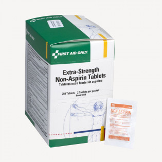 The First Aid Only® Extra-Strength Non-Aspirin Tablets - 250 Per Box