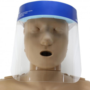 The Clear Protective Face Shield with Elastic Band and Foam Headband