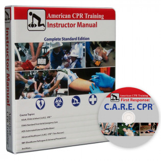 The American CPR Training™ Instructor Manual w/ C.A.R.E DVD