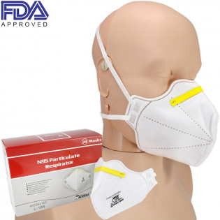 The Harley N95 Respirator Face Mask - Model L-188 - NIOSH Approved - 20 per box