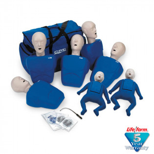 The CPR Prompt™ 7-Pack Mannequins - 5 Adult/Child & 2 Infant - Blue