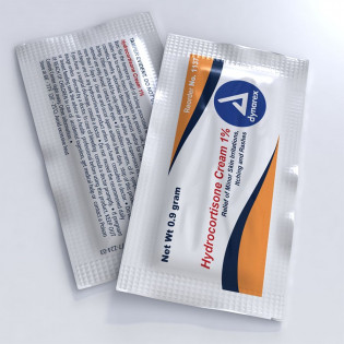 The Dynarex Hydrocortisone Cream 1.0%, .9 gm. - 144 Per Box