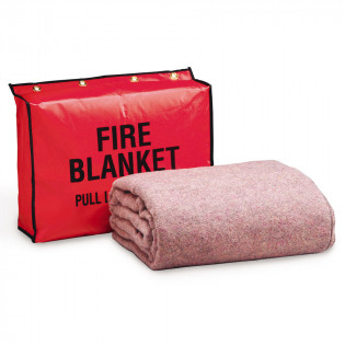 The First Aid Store™ Fire Retardant Blanket w/ Vinyl Bag