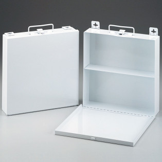 The First Aid Store™ Empty Metal Case, 50 Person, Wall Mountable