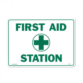 "The First Aid Store™ First Aid Sign - ""First Aid Station"" - Plastic"