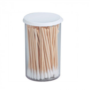 The First Aid Store™ Vial of 100 Cotton Tipped Applicators on wooden sticks (Q-Tip)