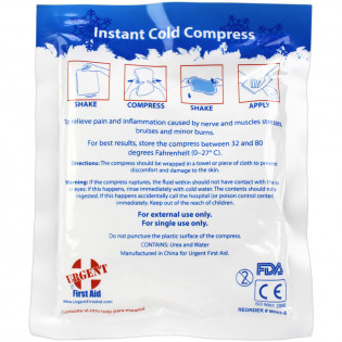 "The First Aid Only® 4"" x 5"" Instant Cold Compress, 1 Each - SmartTab EzRefill"