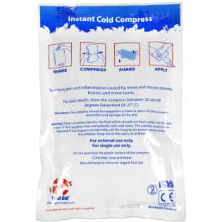 "The Urgent First Aid™ Instant Cold Compress, 6""x9"" - 1 Each"