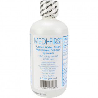 The First Aid Only® Eye Wash - Plastic Bottle - One Time Use - 8 oz. - 1 Each