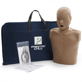 The Prestan Child CPR Manikin w/o Monitor - Dark Skin