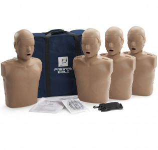 The Prestan Child CPR Mannequin w/o Monitor - 4 Pack - Dark Skin