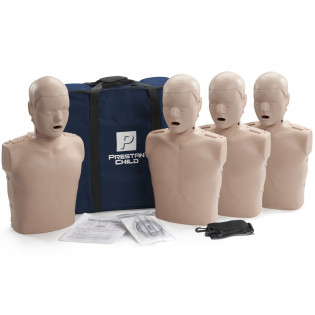 The Prestan Child CPR Mannequin w/o Monitor - 4 Pack - Medium Skin