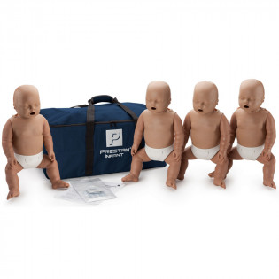The Prestan™ Infant CPR Mannequin w/o Monitor - 4 Pack - Dark Skin