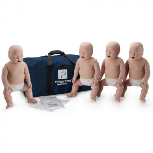 The Prestan™ Infant CPR Mannequin w/o Monitor - 4 Pack - Medium Skin