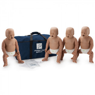 The Prestan™ Infant CPR Mannequin w/ Monitor - 4 Pack - Dark Skin