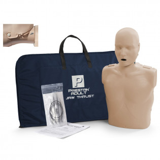 The Prestan Adult Jaw Thrust CPR Mannequin w/o Monitor - Medium Skin