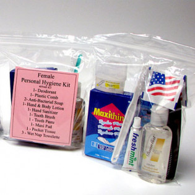 The MayDay Industries Emergency Gear 13 Piece Personal Hygiene Kit (Female)