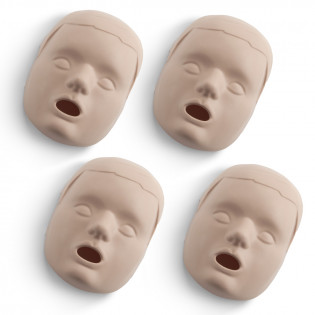 The Replacement Faces for Prestan™ Child Mannequins - 4 Pack - Medium Skin