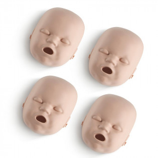 The Replacement Faces for Prestan™ Infant Mannequins - 4 Pack - Medium Skin
