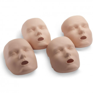 The Face skin replacements for the PRESTAN Professional Adult Jaw Thrust Manikin, 4-Pack, Medium Skin