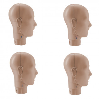 The Prestan Adult Mannequin Jaw Thrust Head Assembly - 4 Pack - Medium Skin