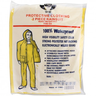 The MayDay Industries Emergency Gear 2 Piece Rain Suit Heavy Duty PVC