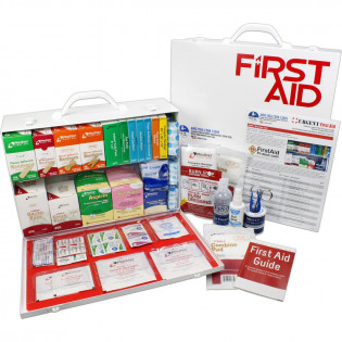 The Urgent First Aid 2 Shelf Industrial First Aid Station - Pocketliner - 75 Person - ANSI A+