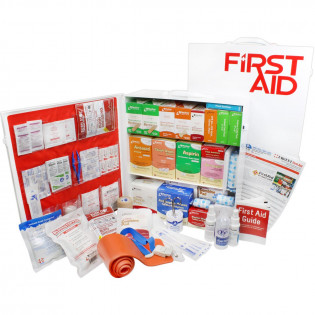 The Urgent First Aid 3 Shelf Industrial First Aid Station - Pocketliner - 100 Person - ANSI B+