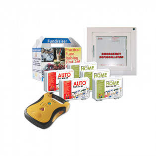 The Urgent First Aid™ Plan D2: Mixed Fundraiser Kit Pack with AED