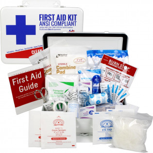 The Urgent First Aid Kit, Bulk, Metal, 74 Pieces, ANSI A, 25 Person