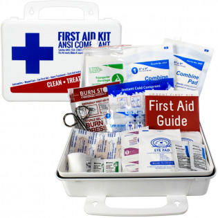 The Urgent First Aid Kit, Bulk, Plastic, 74 Pieces, ANSI A, 25 Person