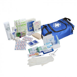 The Urgent First Aid™ First Responder Kit / Jump Bag - 80 Pieces - Blue