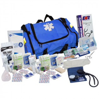 The Urgent First Aid™ First Responder Kit - 151 Pieces - Blue