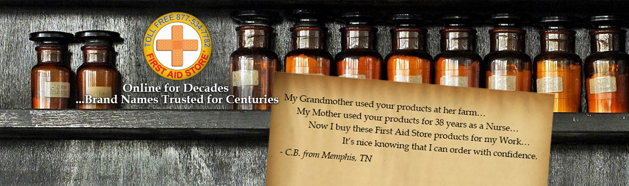 American CPR Testimonial: My Grandmother used your products at her farm… My Mother used your products for 38 years as a Nurse… Now I buy these First Aid Store products for my Work… It's nice knowing that I can order with confidence. - C.B. from Memphis, T