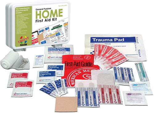 Image displaying home fundraising first aid kits