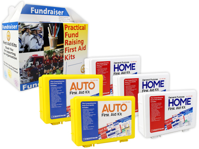Image displaying practical fundraising first aid kits